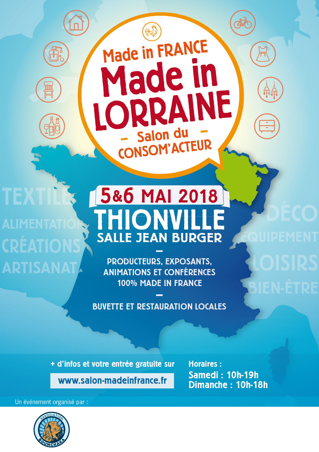 Made in lorraine thionville les inscriptions sont for Salon made in france 2017
