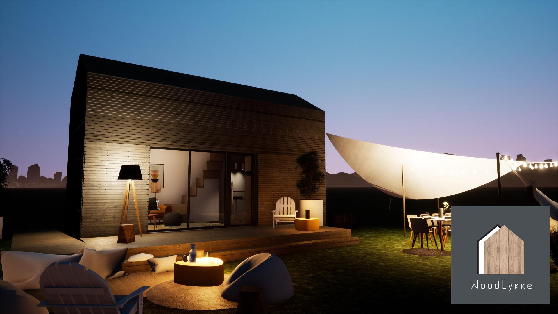 Woodlykke des mini maisons fonctionnelles et modernes for Salon made in france